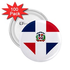 Heart Love Dominican Republic 2 25  Buttons (100 Pack)