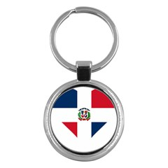Heart Love Dominican Republic Key Chains (round)