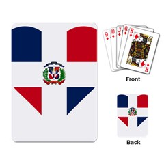 Heart Love Dominican Republic Playing Card