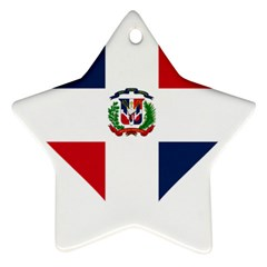 Heart Love Dominican Republic Star Ornament (two Sides)