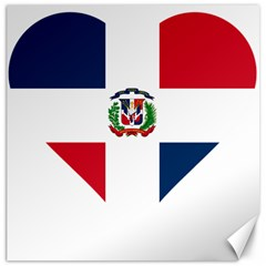 Heart Love Dominican Republic Canvas 16  X 16