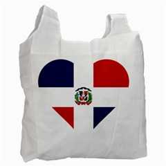 Heart Love Dominican Republic Recycle Bag (one Side)