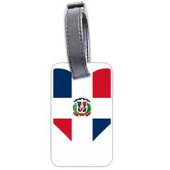 Heart Love Dominican Republic Luggage Tags (one Side)