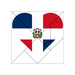 Heart Love Dominican Republic Acrylic Tangram Puzzle (4  X 4 )