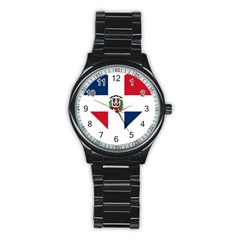 Heart Love Dominican Republic Stainless Steel Round Watch