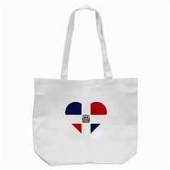 Heart Love Dominican Republic Tote Bag (white)