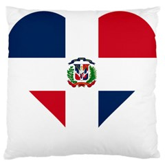 Heart Love Dominican Republic Large Flano Cushion Case (one Side)