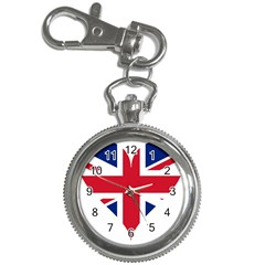 Heart Love Heart Shaped Flag Key Chain Watches