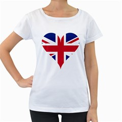 Heart Love Heart Shaped Flag Women s Loose Fit T Shirt (white)