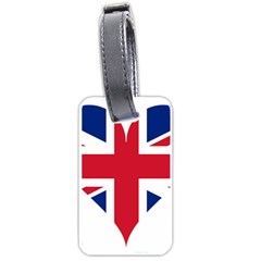 Heart Love Heart Shaped Flag Luggage Tags (two Sides)