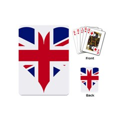 Heart Love Heart Shaped Flag Playing Cards (mini)