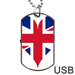 Heart Love Heart Shaped Flag Dog Tag Usb Flash (two Sides)