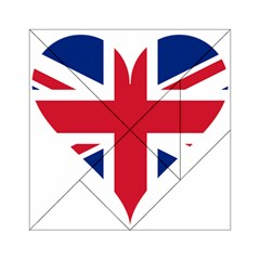 Heart Love Heart Shaped Flag Acrylic Tangram Puzzle (6  X 6 )