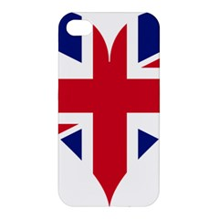 Heart Love Heart Shaped Flag Apple Iphone 4/4s Premium Hardshell Case