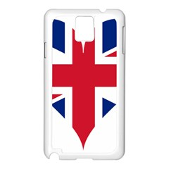 Heart Love Heart Shaped Flag Samsung Galaxy Note 3 N9005 Case (white)