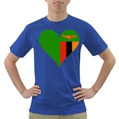 Heart Love Heart Shaped Zambia Dark T Shirt