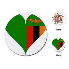 Heart Love Heart Shaped Zambia Playing Cards (round)