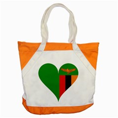Heart Love Heart Shaped Zambia Accent Tote Bag