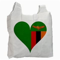 Heart Love Heart Shaped Zambia Recycle Bag (one Side)