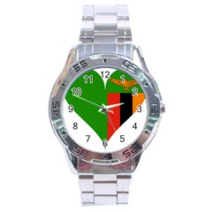 Heart Love Heart Shaped Zambia Stainless Steel Analogue Watch
