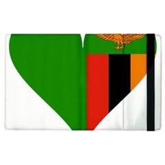 Heart Love Heart Shaped Zambia Apple Ipad 2 Flip Case