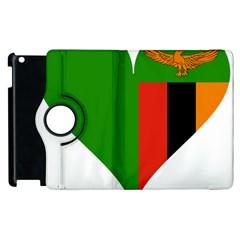 Heart Love Heart Shaped Zambia Apple Ipad 2 Flip 360 Case