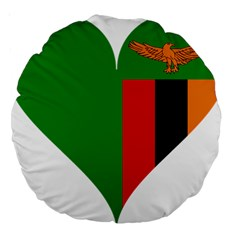 Heart Love Heart Shaped Zambia Large 18  Premium Round Cushions