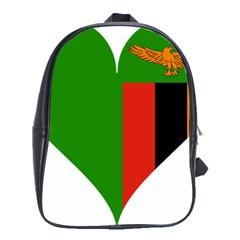 Heart Love Heart Shaped Zambia School Bag (xl)