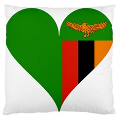 Heart Love Heart Shaped Zambia Large Flano Cushion Case (one Side)