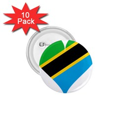 Heart Love Tanzania East Africa 1 75  Buttons (10 Pack)