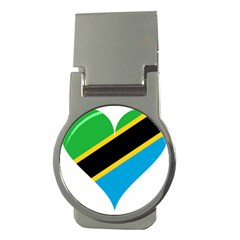 Heart Love Tanzania East Africa Money Clips (round)
