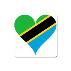 Heart Love Tanzania East Africa Square Magnet
