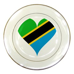 Heart Love Tanzania East Africa Porcelain Plates