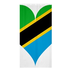 Heart Love Tanzania East Africa Shower Curtain 36  X 72  (stall)