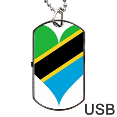 Heart Love Tanzania East Africa Dog Tag Usb Flash (one Side)