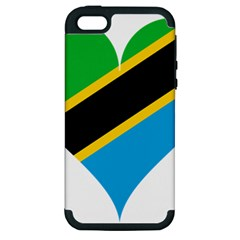 Heart Love Tanzania East Africa Apple Iphone 5 Hardshell Case (pc+silicone)