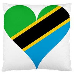 Heart Love Tanzania East Africa Large Flano Cushion Case (two Sides)