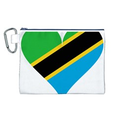 Heart Love Tanzania East Africa Canvas Cosmetic Bag (l)