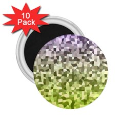 Irregular Rectangle Square Mosaic 2 25  Magnets (10 Pack)