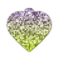 Irregular Rectangle Square Mosaic Dog Tag Heart (one Side)