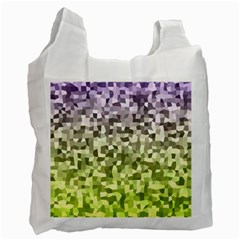 Irregular Rectangle Square Mosaic Recycle Bag (one Side)