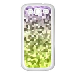 Irregular Rectangle Square Mosaic Samsung Galaxy S3 Back Case (white)