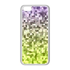 Irregular Rectangle Square Mosaic Apple Iphone 5c Seamless Case (white)