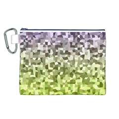 Irregular Rectangle Square Mosaic Canvas Cosmetic Bag (l)