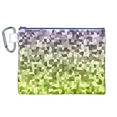Irregular Rectangle Square Mosaic Canvas Cosmetic Bag (xl)