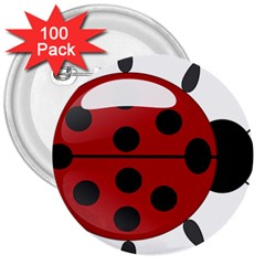 Ladybug Insects Colors Alegre 3  Buttons (100 Pack)