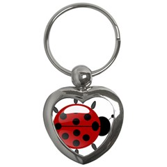 Ladybug Insects Colors Alegre Key Chains (heart)