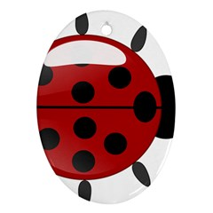 Ladybug Insects Colors Alegre Oval Ornament (two Sides)