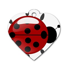 Ladybug Insects Colors Alegre Dog Tag Heart (two Sides)