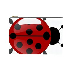 Ladybug Insects Colors Alegre Cosmetic Bag (large)